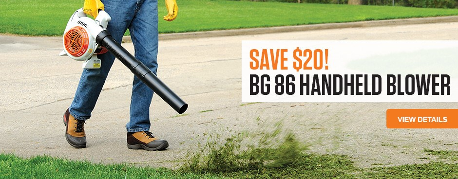 Save $20 on BG 86 Handheld Blower!